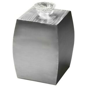 Butler Getty Stainless Steel Accent Table, Modern Expressions - 2888260