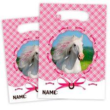 Weisses Pferd Partytütchen, 8 Stück, 16,5cm x 23cm, für kleine Geschenke