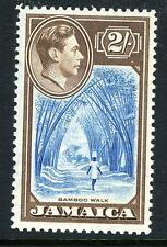 JAMAICA-1938  2/- Blue & Chocolate Sg 131 LIGHTLY MOUNTED MINT V13469