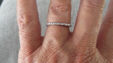 DIAMOND STACKABLE HALF ETERNITY RING-SIZE S-0.050CTS-WITH PLATINUM