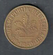 Circulated Germany 10 Pfennig Coin - 1950D