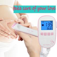 Fetal Doppler Baby Heartbeat fetal Detector Portable Ultrasound Heart Rate love