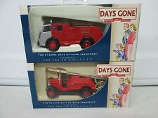 Lot of 2 Lledo Days Gone Dennis Fire Engines