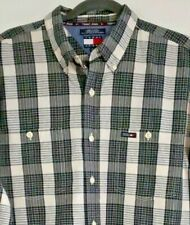 Tommy Hilfiger Tommy Jeans XL Box Logo Plaid Shirt XL Grey / White Plaid RN66476