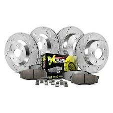 For Audi S4 00-02 Brake Kit 1-Click Street Warrior Z26 Drilled & Slotted Front &