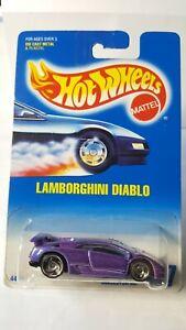 Hot Wheels 1990 LAMBORGHINI DIABLO #227 Purple Flake Metallic w 3 Spoke Rims