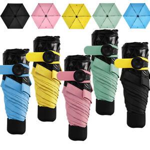 Ladies Outdoor Travel Easy Carry Umbrella -Anti UV - Handbag Mini Small Foldable
