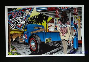 1950s 1960s era Denneys Texaco Service Gas Station Jefferson NC Art Print sale