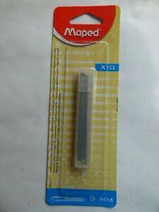MAPED. 10 LAMES de CUTTER  9 mm