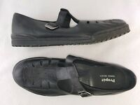 "Propet ""Sandal Walker"" women's Leather Mary Jane Comfort Shoes, Black Size 9.5 W"