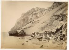 Espagne, Gibraltar Vintage albumen print. Tirage albuminé  15x20  Circa 18