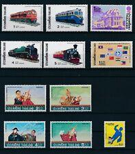 Thailand 1976-7: #810, #811-14 (Set), #815, #816, #818-21 (Set); All Mnh Cv $50+