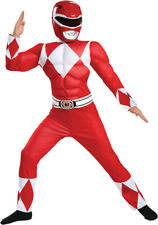 Mighty Morphin Power Rangers Size 7-8 Med Red Ranger Muscle Costume Child