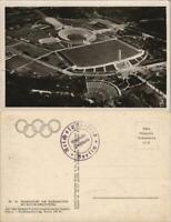 Ansichtskarte Charlottenburg-Berlin Luftbild Olympiastadion und Umland 1936