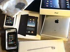 Apple iPad Air 1st Gen 64GB Wi-Fi + 3G AT&T 9.7 A1337 Silver Keyboad Case Box