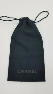 New Chanel Authentic Glasses Sunglasses Pouch Black Logo Dust Bag Italy --