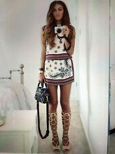 Zara Dress Size Xs 6 8 White Red Black