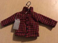 BNWT New Paperchase Lumberjack Shirt Hanging Decoration - 21.5x10.5cm Red Black