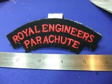 WW2 Shoulder Title royal engineers parachute reg embroidered cloth army military