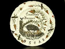 Grande piastra per il maialino Maiale Oscar ceramica marca Celestino Nero Pig