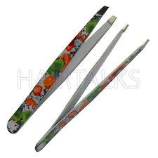HAIRTALKS Stainless Steel EyeBrow Plucker, Fruit Color Coated Slant Tip Tweezer