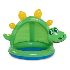 Summer Waves Round Inflatable Dinosaur Baby Pool, Green