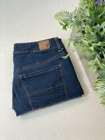 American Eagle Super Stretch Hi- Rise Size 8 Skinny Jeans Dark