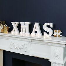 """16cm Battery Power """"XMAS"""" Christmas LED Light Up Letters 