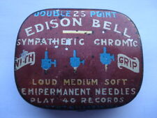 C1920S VINTAGE EDISON BELL DOUBLE POINT SYMPATHETIC CHROMIC WITH GRIP NEEDLE TIN
