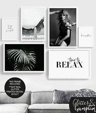 Fashion Gallery wall, Fashion wall art, Kate moss, Scandinavian art home print