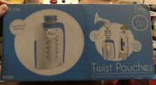 New Kiinde Breast Milk Storage Twist Pouches 6 oz 80 Pack Pre-sterilized