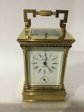 L Epee Corinthian Pillar Carriage Clock - Strike - Repeat -Alarm