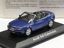 Norev Audi A4 Cabriolet 2002 bleue 1/43 830001