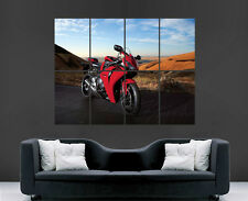 RED HONDA CBR1000 MOTORBIKE POSTER SPEED RACING ART PICTURE PRINT LARGE HUGE