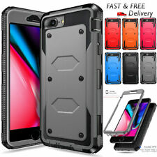 For iPhone 7 8 Plus Case Shockproof Rubber Silicone Hard Bumper Protective Cover