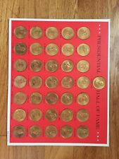 1968 Presidential Hall of Fame 36 Coins Solid Bronze Complete Set