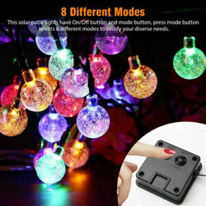 Solar 100LED String Light Garden Path Yard Lamp Colorful Waterproof WeddingDecor