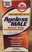 Ageless Male Testosterone Booster 60 Tablets Expires JANUARY 2021 Brand New