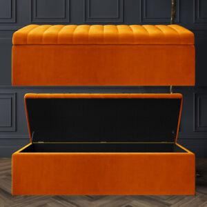Designer Upholstered Footstool, Bench Blanket Ottoman Box Kids Toys Storage Box