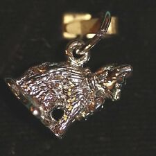 Sterling Silver Charm New but vintage Nos Cat