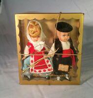 Vintage 1972 Spanish Boy and Girl Dolls Muñeca Artesana