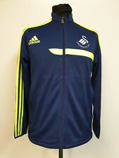 KIDS ADIDAS SWANSEA CITY FC BLUE YELLOW  TRACKSUIT JACKET AGE 15-16 YEARS YXL