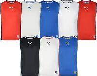 Men's New Puma Logo Vest Tank Top Sleeveless T-Shirt Singlet - Summer Holidays