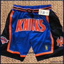 1996-97 New York Knicks Blue Shorts All sewn