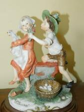 "Armani Capodimonte Figurine Children With Chickens 9.50"" Tall"