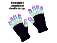 LED Gloves Finger Lights 3 Colors 6 Modes Flashing (Pair)