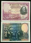 Spain 50 Pesetas 1928 Banknote World Paper Money Circulated (VF)