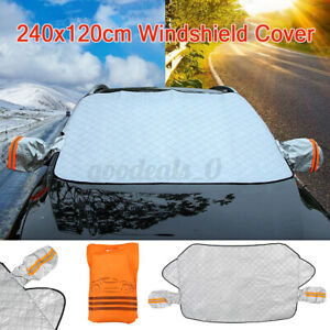 Car WindShade Cover Anti Dust Frost Snow Ice Sun UV Shade With Mirror Cover US