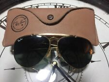 B&L RAY-BAN USA Aviator Gold Vintage Sunglasses with orig case.5.8/14