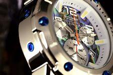 Invicta 50mm Speedway Viper suizo ronda Z60 Abalone plata pulsera reloj
